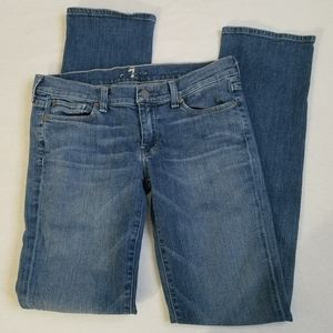 7 for all mankind straight leg jeans medium 28